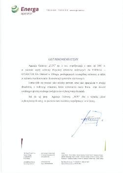 Referencja Energa Operator dla JUPI Elbląg