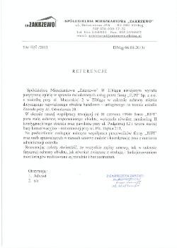 Referencja Zakrzewo dla JUPI Elbląg
