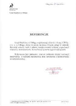 Referencja Urząd Skarbowy Elbląg dla JUPI Elbląg