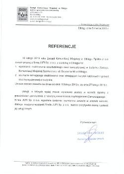 Referencja ZKM Elbląg dla JUPI Elbląg
